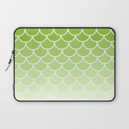 Ombre Fish Scale In Lime Laptop Sleeve