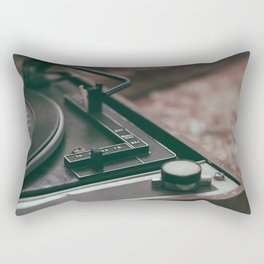 Vintage turntable Rectangular Pillow