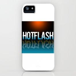 Hot Flash - Black Background iPhone Case