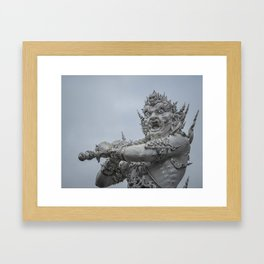 The White Temple - Thailand - 011 Framed Art Print
