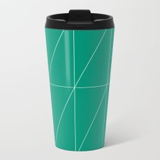 Emerald Triangles by Friztin Metal Travel Mug