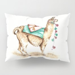 Watercolor Llama Pillow Sham