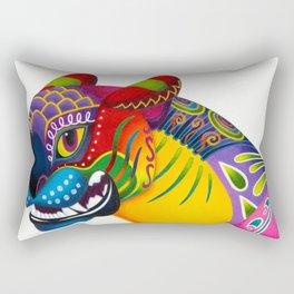 Oaxacan Big Cat Mini-Bust Rectangular Pillow