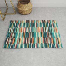 Colorful seigaiha Japanese geometric pattern Rug