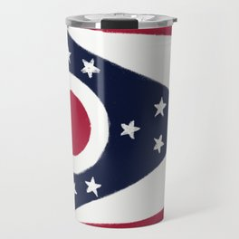 Ohio State Flag Travel Mug