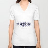 native V-neck T-shirts featuring NATIVE by Inadeer