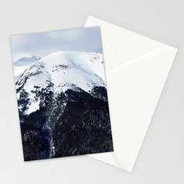 Snow cowered peaks Stationery Cards