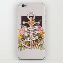 Remove everything that holds you down iPhone Skin