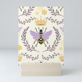 Queen Bee - Lavander Purple and Yellow Mini Art Print