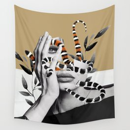 Woman and snakes Wall Tapestry