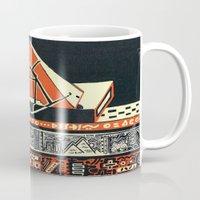 pyramid Mugs featuring pyramid by pcart