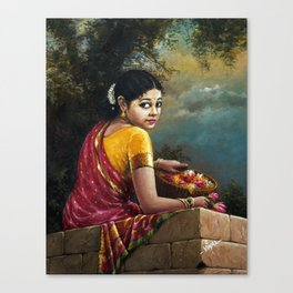 IMG_7793_Lady with flower basket Canvas Print