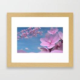 Sakura Flowers Framed Art Print