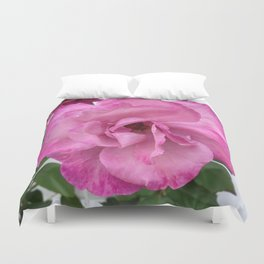 Bodacious Pink Rose | Large Pink Flower | Nature Photography Duvet Cover