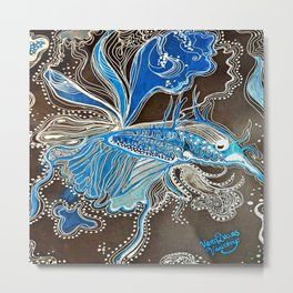 Moonlight Betta Fish Metal Print