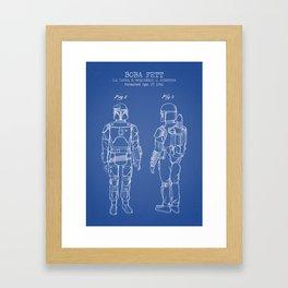 Boba Fett blue Framed Art Print