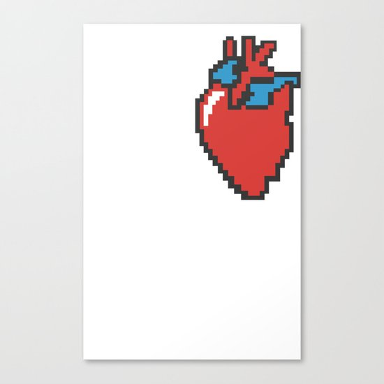 i heart 8-bit Canvas Print