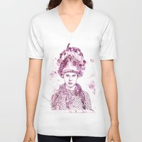 levi V-neck T-shirts featuring Levi Miller vs Ted Tuesday by Levi Miller