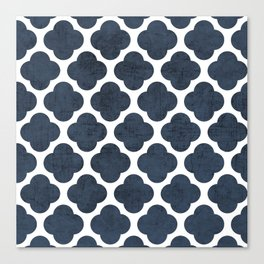 navy clover Canvas Print