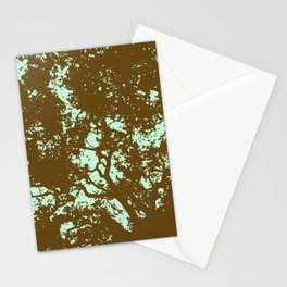 Mint and Brown Forest Stationery Cards