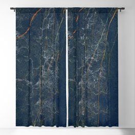 Deep blue and emerald marble Blackout Curtain