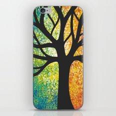 Stencil Tree Canvas iPhone & iPod Skin