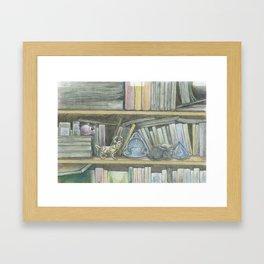 RHX Bookshelf Logo Framed Art Print