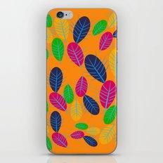 Fall Leaves Pop Pattern Design iPhone Skin