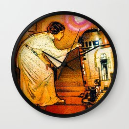 Princess Leia and R2D2 Wall Clock
