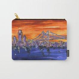 Ben Franklin Bridge Sunset Carry-All Pouch