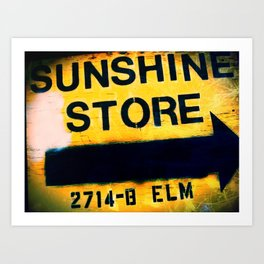 Sunshine Store Art Print