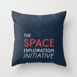 The Space Exploration Initiative Throw Pillow