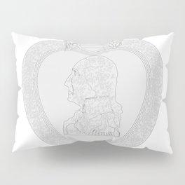 Purple Heart Medal Outline Pillow Sham