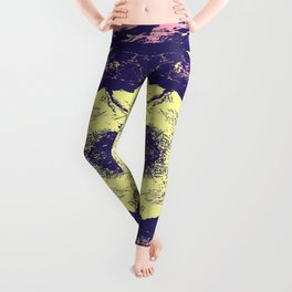 Hidemi - Colorful Abstract Retro Art Pattern Leggings