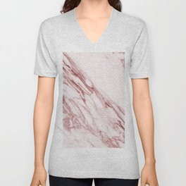 Pink Marble Pattern - Pink Marble Swirl Texture Unisex V-Neck