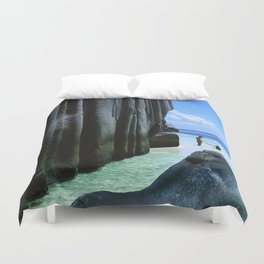 Seychelles Islands: La Digue Duvet Cover