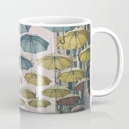 Umbrellas in the sky Coffee Mug