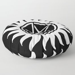 Anti Possession Sigil White Floor Pillow