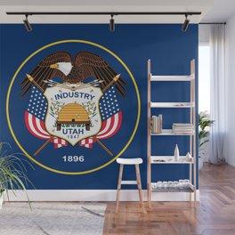 Flag of Utah, High Quality image Wall Mural