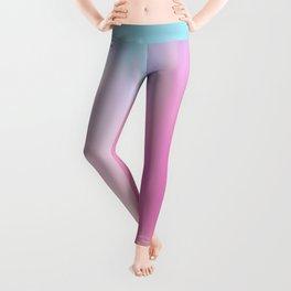 Abstract teal pink watercolor artistic brushstrokes Leggings