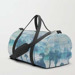 Pacific Paradise Island Blue Moon Duffle Bag