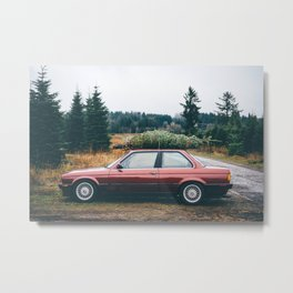 Bavarian E30 Christmas Tree Metal Print