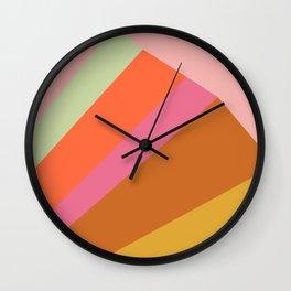 Retro Geometric Abstraction Mountain Landscape Wall Clock