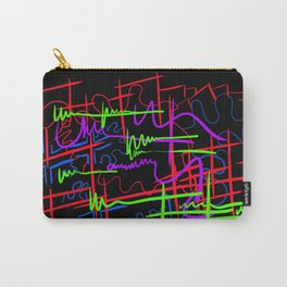 abstract neon splash Carry-All Pouch