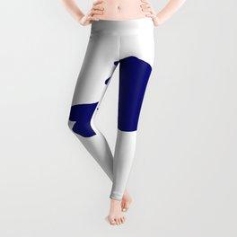 Blue Snowy Egret Leggings