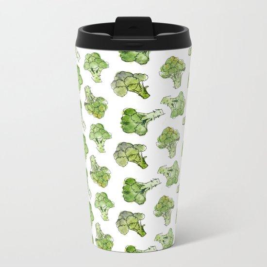 Broccoli - Scattered Metal Travel Mug