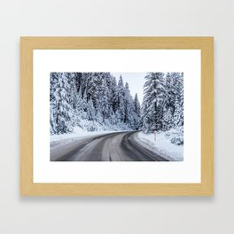 Deep In The Cold - Yosemite Framed Art Print