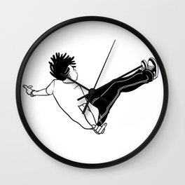 Jump In Sketch Wall Clock