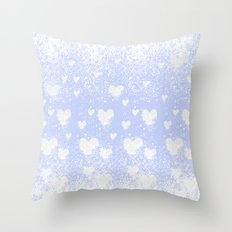snowing hearts Throw Pillow