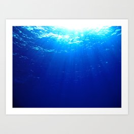 Underwater Light Art Print